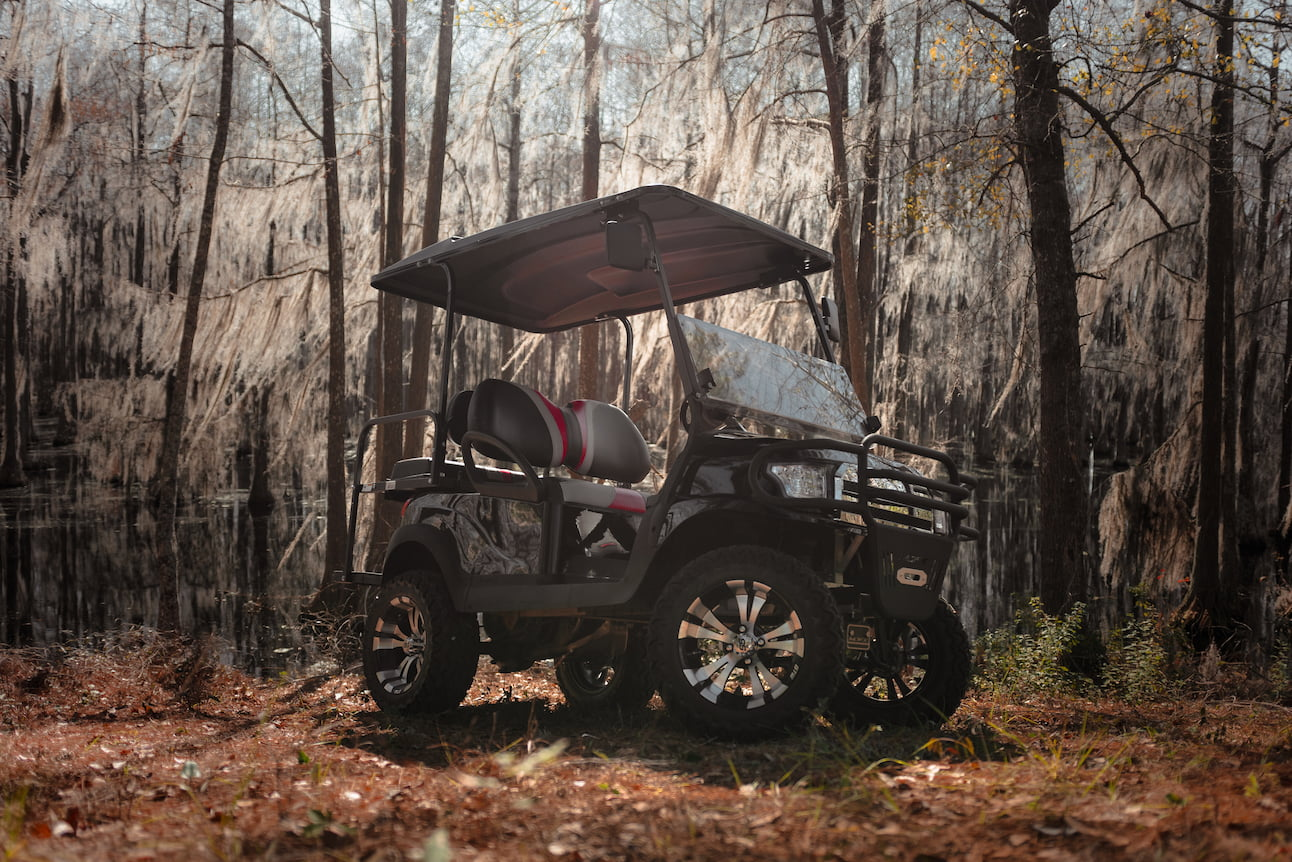 Off Road Golf Cart in the woods | Statesboro Golf Carts | Club Car